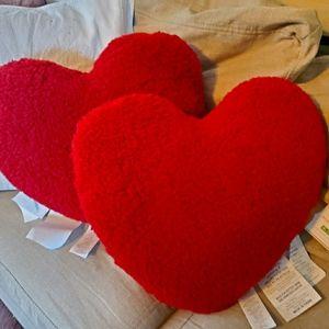 Pottery barn heart pillows